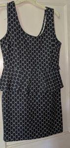 Charlotte Russe blue and white ruffle dress size L
